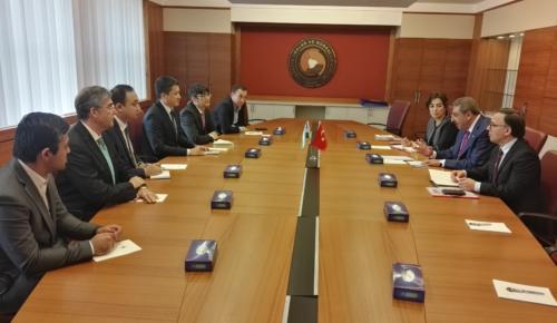 Özbekistan Cumhuriyeti Turizmi Geliştirme Devlet Komitesi Başkanı TOBB'u Ziyaret Etti